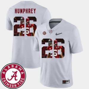 #26 Marlon Humphrey Alabama Crimson Tide For Men Football Pictorial Fashion Jersey - White