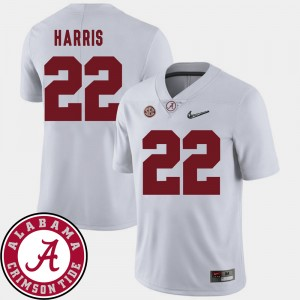 #22 Najee Harris Alabama Crimson Tide College Football 2018 SEC Patch Mens Jersey - White