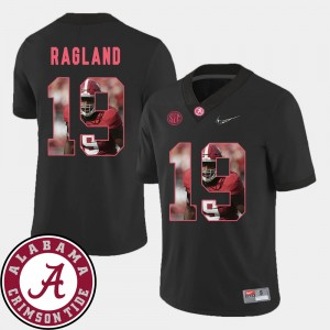 #19 Reggie Ragland Alabama Crimson Tide Men's Football Pictorial Fashion Jersey - Black