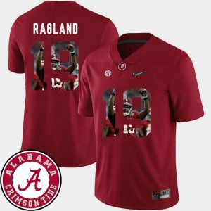 #19 Reggie Ragland Alabama Crimson Tide For Men Pictorial Fashion Football Jersey - Crimson