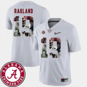 #19 Reggie Ragland Alabama Crimson Tide For Men Football Pictorial Fashion Jersey - White